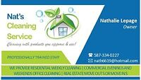 Let me clean for you. Nat's Cleaning Service. 5873340227