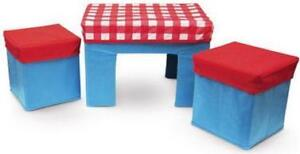 NEW: 3D Kitchen Playset(Included Table & Stools, Range & Fridge)