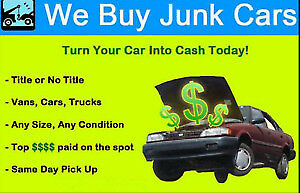 WE BUY ALL JUNK VEHICLES =CASH