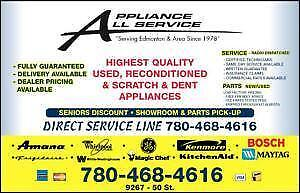 USED APPLIANCE SALES  from a dependable dealer since 1981 .... lowest possible price. @ 9267-50 Street