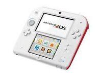 Nintendo 2DS (Inlc 3DS Compatible Super Mario Bros, Mario Kart 7, Lego City & Marvel, Luigi Mansion)
