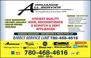 Fast Appliance REPAIRS and Used SALES