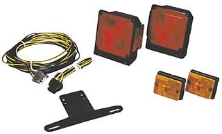 """WESBAR -  SUBMERSIBLE """"UNDER 80"""" TAIL LIGHT AND WIRING KIT ECONOMY KIT 7511"""