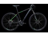 "Cube Aim Pro Hardtail Mountain Bike - 21"" Frame 29"" wheel - as new - Black / Green"