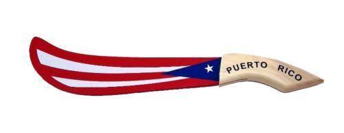"Puerto Rico Flag Wood Machete ( 15"" Long ) Boricua Rican Souvenirs * FREE SHIP"