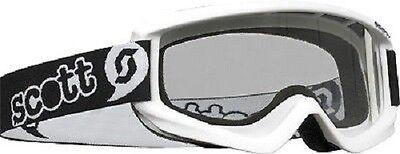 Scott YOUTH AGENT WHITE Goggles Off Road Snowmobile ATV UTV MX PWC Goggle