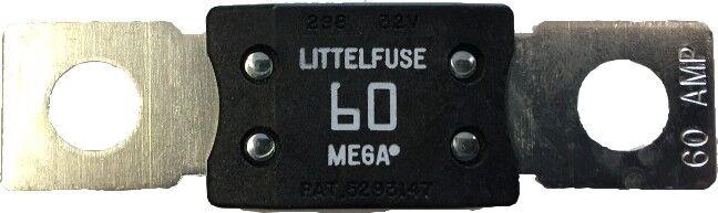 Mega Fuse 60 Amp Bolt Down M8 White Copper Ends 12v 24v 32v Cargo 192792