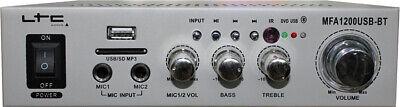 LTC MFA1200USB BT Amplificador Karaoke Bluetooth 2 x 50W
