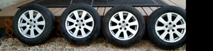 Winter tires on rims set of 4