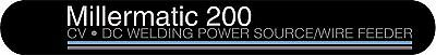 Millermatic 200 Decal Sticker - Set Of 2
