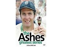 THE ASHES CRICKET DVD SET THE GREATEST SERIES THE OFFICIAL SET WITH FREE POSTAGE WITHIN THE UK