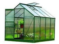 Gardman polycarbonate greenhouse 6x8ft