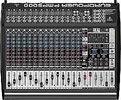 BEHRINGER PMP5000 20 channel powered mixer + W-AUDIO WSR 600w powered bass speaker