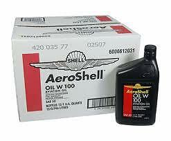 AEROSHELL W100 OIL ASHLESS DISPERSANT  12 QUART CARTON