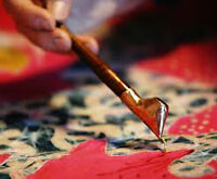 Spring Batik lessons - using traditional wax method