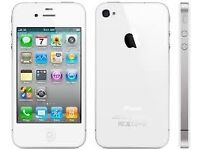 Apple Iphone 4 8GB White (Unlocked) in good condition
