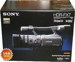 Sony HDR-FX7 Camcorder with case and 60 gig external harddrive