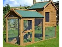 brand new single and double rabbit guinea pig hutch with run and cover chicken coop