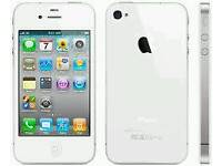Apple Iphone 4 White 16Gb (Unlocked) in good condition