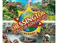 2 x chessington world of adventure tickets 18th july