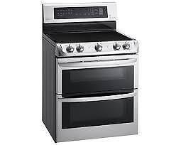 Cuisinière électrique LG 30 po,  7.3 pi. cu., Autonettoyant, Convection ,Couleur Acier Inox, (SKU:1382), LDE5415ST