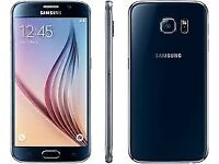 Samsung s6 blue like brand new unlocked come with free case+glass protector