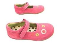Hush Puppies Fancies Girls Shoes in pink suede