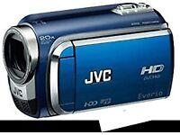 JVC HD Camcorder, 60GB storage, 20x optical zoom. As new. £85.
