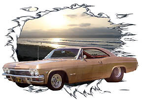1965 gold chevy impala ss super sport hot rod sun set t shirt 65 muscle car tee. Black Bedroom Furniture Sets. Home Design Ideas
