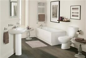 Brand New Bathroom Suite - Bath, Toilet, Basin/Sink, all Taps and Wastes