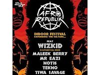 Sat 26 May 02 Arena - AfroRepublik Feat. Wizkid Tickets