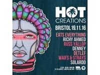 X4 tickets for sale for Hot Creations In:Motion at Motion Bristol (sold out)