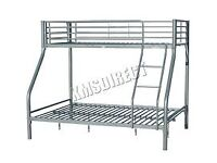 SILVER TRIPLE BUNK BEDS-NEVER BEEN ASSEMBLED