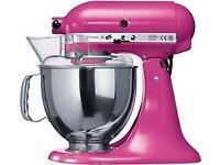 KitchenAid Artisan 5KSM150PSBRI 4.8 L Tilt Head Stand Mixer - Raspberry Ice with extras