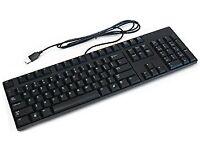 USB Computer PC Keyboard / Plain Black / £1 EACH