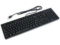 USB Computer PC Keyboard / Plain Black / £1 EACH