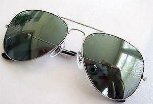 104fbf1bd8 Women s Silver Ray Ban Aviator Sunglasses