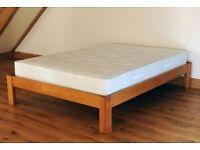 Ex display king size wooden bed frame