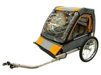 Bicycle Bike Double Trailer Stroller for kids