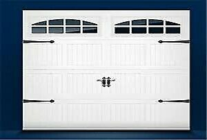 Garage Door insulated; Carriage style; windows; installed $999