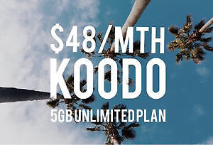 Rogers/Fido/Bell TO Koodo 5GB LTE+Unlimited minutes&Texting