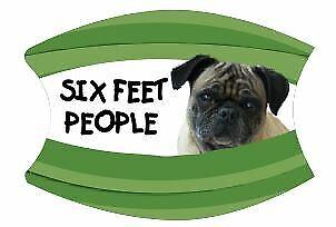 Face Mask Washable Pug Six Feet People Dog