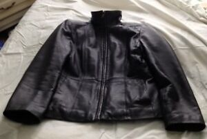 Gently used Ladies Brown leather Jacket – Size 8