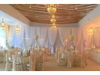 Venue wall and ceiling drapings - £13 per metre