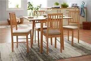 Kendal Large Extending Table & 4 Chairs - Natural (brand new and boxed)