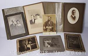 Antique Cabinet Photo Lot Of 7