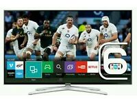 "Samsung 40"" LED smart wi-fi tv builtin USB media player HD freeview tv fullhd 1080p ."