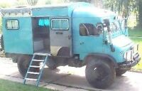 Unimog expedition camper. Needs resto, reduced