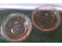 Pair of Vintage Art Deco Pink Glass serving bowls