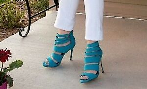 New beautiful  blue color  Call it Spring  high heels!!